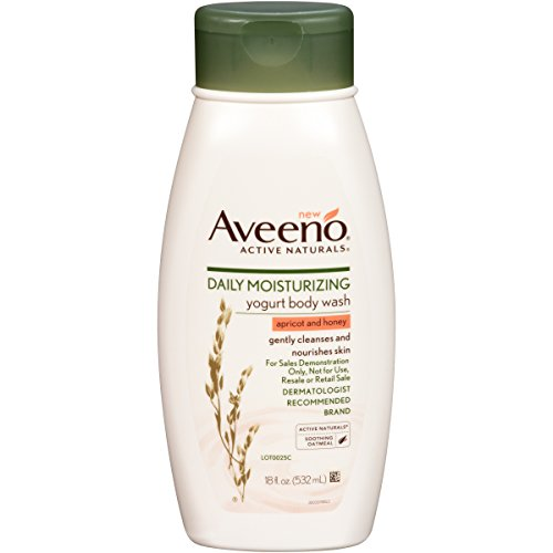 Aveeno Active Naturals Daily Moisturizing Body Yogurt Body Wash, Apricot And Honey, 18oz, (Pack of - Gel Apricot
