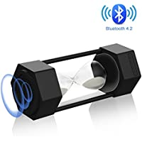 Bluetooth Speaker With LED RGB Light,BTC-88 Portable Indoors Outdoors Stereo Wireless Speaker Built-In Mic & Bluetooth 4.2 AUX output for Mobiles Black