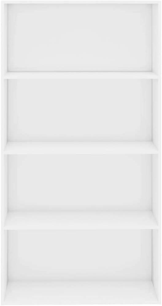 Extaum Estanter/ía de 4 Niveles de Aglomerado Color Blanco 80 x 30 x 151,5 cm Estanter/ía Madera Estanter/ía de Libros Estanter/ía Vers/átil Estanterias Librerias