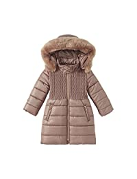 Mayoral Girl's Taupe Quilted Puffer Coat, Sizes 2-9