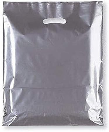 7,6 cm blanc Sabco Lot de 100 sacs de transport solides en plastique de qualit/é sup/érieure 38 x 46