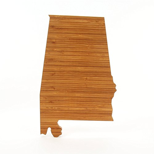 Cutting Board Company Alabama Shaped Cutting Board, Bamboo Cheese Board