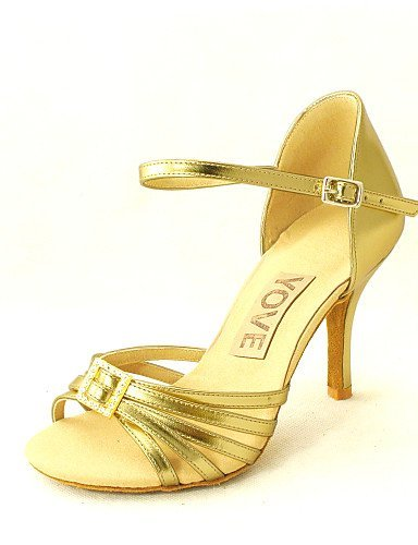 Salsa Pink Black ShangYi Blue Gold Customized Shoes Heel Red Dance Gold Latin Customizable Women's Silver Leatherette FFpxXP