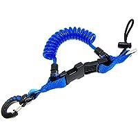 Shark - Cable enrollado con un broche y hebillas de r‡pida liberaci—n - Azul