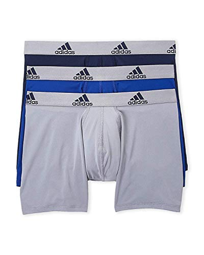 adidas Mens 3 Pack Climalite Performance Boxer Briefs, Multicolor, Size ()