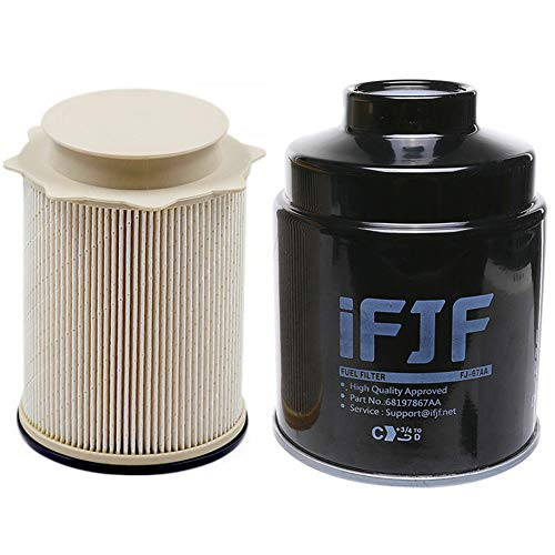 iFJF Fuel Filter Water Separator set for Dodge Ram 6.7L 2500 3500 4500 5500 6.7L Cummins Turbo Diesel Engines 68197867AA 68157291AA 3500 Cummins 6.7l Filter