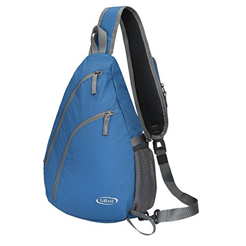 G4Free Sling Shoulder Backpack Chest Crossbody Bag One Strap bag for Men Women, Girls Boys Lightweight Triangle Pack Rusksack Hiking Camping Bicycles Daypacks 15L(Blue)