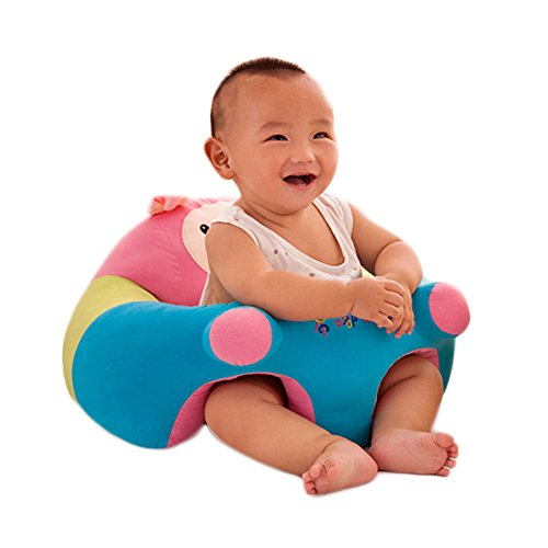 O-Toys Baby Chairs Siting Learning Infant Seat Plush Stuffed Animal Pillow Protector Pig Cushion Sofa for Kids 3-6 Months by O-Toys