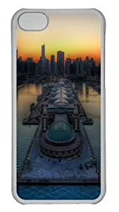 iPhone 5C Cases & Cover - Chicago skyline Protective PC Hard Plastic Case for iPhone 5C - Transparent