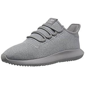 adidas Originals Boys' Tubular Shadow J Sneaker, Grey Three/Grey Three/Metallic Silver, 5 M US Big Kid