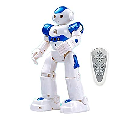 Corgy Cute Robot Toy for Child Programmable Smart Infrared Sensing Robot for Kids Birthday Gift Present (Blue): Toys & Games