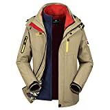 Hoodies for Men with Designs Cotton.Mens Winter Hoodie Two Piece Three in One Warm Waterproof Windproof Outdoor Coat