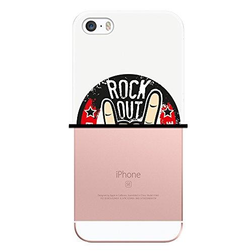 WoowCase Hülle Case für { iPhone SE iPhone 5 5S } Handy Cover Schutzhülle Rock & Roll Zeichen