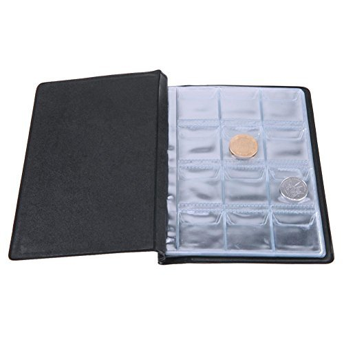 Whitelotous Coin Album Holders 10 Pages 120 Pockets Coin Collection Storage (Green Coin Book)