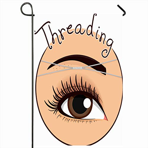 Ahawoso Outdoor Garden Flag 12x18 Inches Threading Eyebrow Care Cut Out Design Shaping Seasonal Home Decorative House Yard Sign