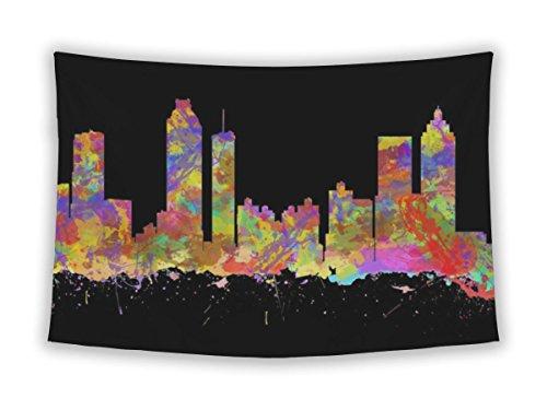Gear New Wall Tapestry For Bedroom Hanging Art Decor College Dorm Bohemian, Skyline Of Atlanta Georgia, (Georgia Tapestry)
