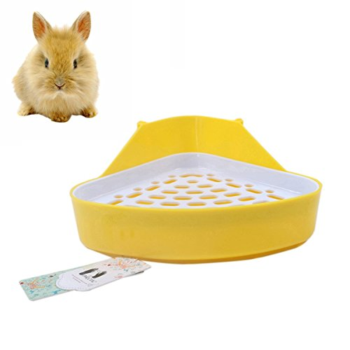 Mkono Triangle Potty Trainer Corner Litter Toilet for Small Animal Hamster Gerbil (Chinchillas Ferrets Guinea Pigs)