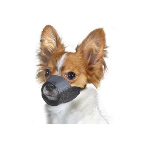 Hannibal King Costume (Medium Size-3 Nylon Pet Dog Muzzle Mouth Grooming No Bark Bite Adjustable Black)