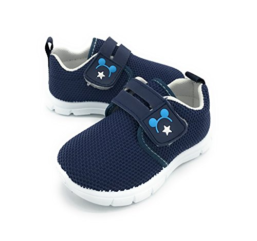 Blue Berry EASY21 Mesh Lightweight Sneakers for Baby Toddler Kids Breathable Slip-On Fashion Shoes (5 M US Toddler, Navy-1204)