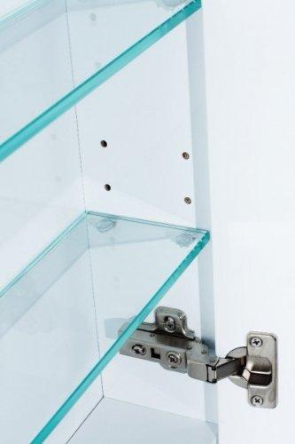 Galdem Spiegelschrank ROUND80 Badezimmerschrank 80cm 2 t/ürig mit LED Beleuchtung Softclose Funktion Steckdose Badezimmer Spiegel Flurspiegel