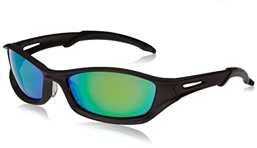 Crews TB11G MCR Tribal Safety Glasses Graphite Frame Emerald Mirror Lens, 1 Pair