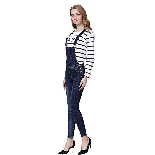 Taglia Stretch Tuta S Vestita Comfort Donna Slim Denim Salopette con Curvy A Tute Fit Azul Fit Denim Pantaloni Slim 4XL ZqwzRZ4