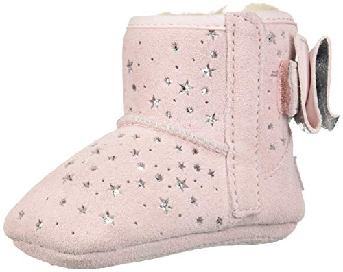 UGG Girls' I Jesse Bow II STARGIRL Bootie Fashion Boot, Baby Pink, 0/1 M US Infant ()
