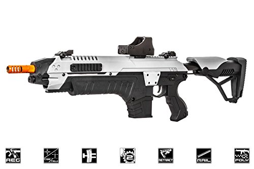 CSI S.T.A.R XR5 Advanced Main Battle Rifle M4 Carbine AEG Airsoft Gun (Black/White)
