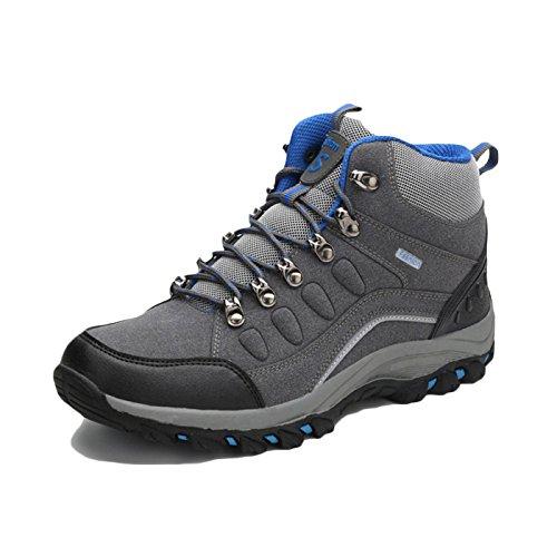 Señoras Zapatos De Senderismo Mujeres Impermeables Zapatos para Caminar Más El Terciopelo Desgaste Zapatos De Senderismo De Gran Tamaño Zapatos Al Aire Libre Gris