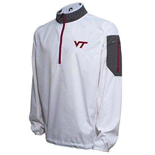 (Crable NCAA Virginia Tech Hokies Men's Lightweight Windbreaker Pullover, White/Maroon, Large)