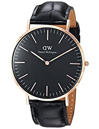 Daniel Wellington Unisex Adult DW00100129  Classic Black Reading 40mm Watch