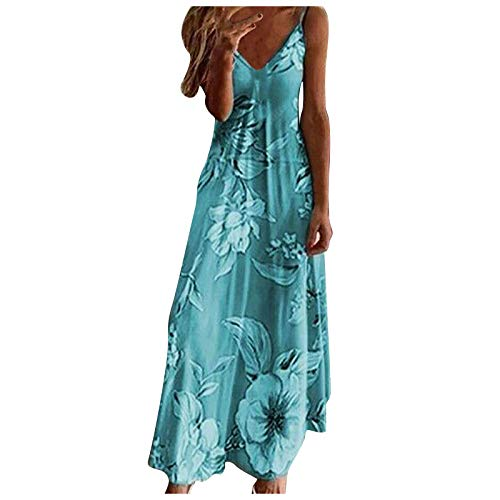 Bnaona Dress for Women,Tie Dye Colorful Sexy Sleeveless V Neck Maxi Dress Summer Casual Sundress Beach Party Split Long Dress