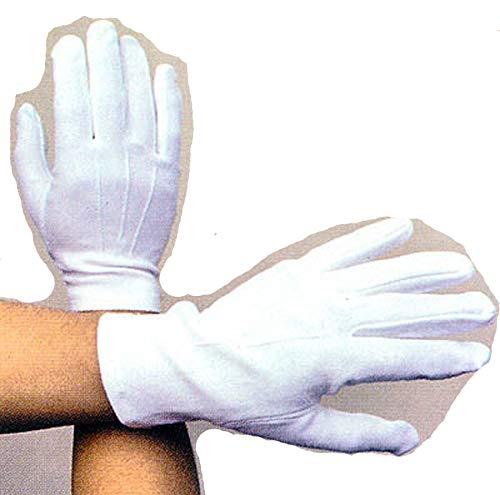 (Men's White Cotton Dress Gloves Wedding Gloves Wrist Length Large (09651W Z))
