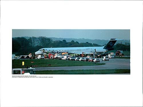 Vintage photo of Aircrash at manchester airport airtours ()