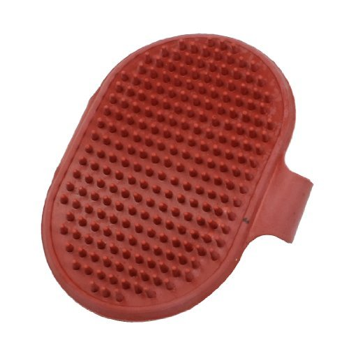 DealMux Pet Shower Grooming Bathing Massage Cleaning Brush, Red