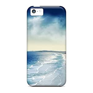 Zheng caseNew Premium Flip Case Cover Coastal Sunset Skin Case For Iphone 5c