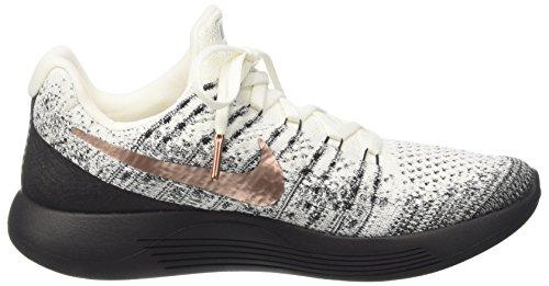 ... Nike Menns Lunarepic Lav Fk 2 X-plore, Hvit / Mtlc Rød Bronse-