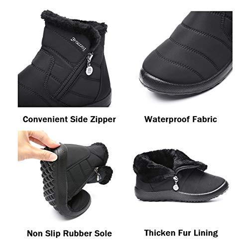 Neve Donna Gracosy Scarpe Cerniera Impermeabile Boots Con Da a0fSxX