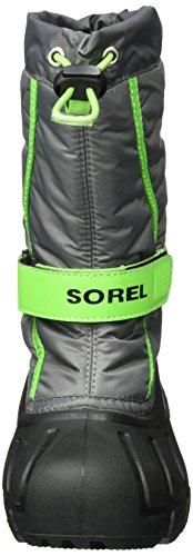Sorel Kinder Childrens Flurry Schneestiefel Grau (Quarry, Cyber Green)