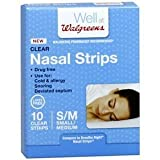 Walgreens Nasal Strip, Clear, Small/Medium, 10 ea