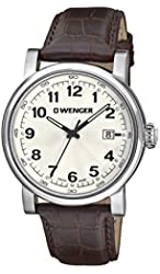 Wenger Men's 1041.101 Analog Display Swiss Quartz Brown Watch