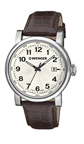 Wenger-Mens-1041101-Analog-Display-Swiss-Quartz-Brown-Watch