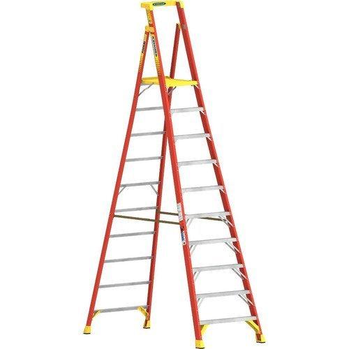 Werner CO PD6210 Type IA Aluminum Podium Ladder - 10'