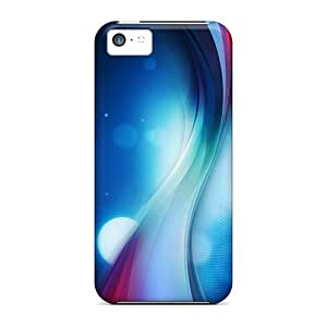 New Premium Flip Cases Covers Color Wavy Abstract Skin Cases For Iphone 5c