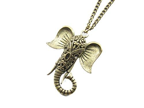 Elephant Necklace Brass...