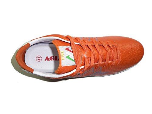 AGLA - Zapatillas de fútbol sala para hombre negro BLACK SILVER EUR 41 ARANCIO