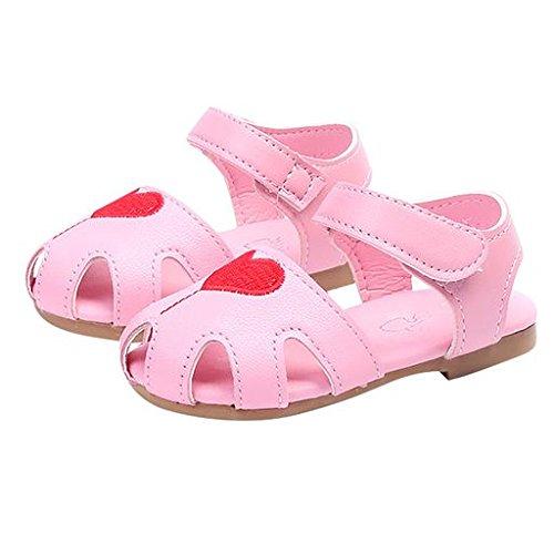 fc19fd76052b3 Morrivoe Baby Girl Leather Heart Pattern Crib Shoes Newborn Infant ...