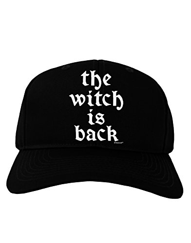 TooLoud The Witch Is Back Adult Dark Baseball Cap Hat - (Halloween Movie Bette Midler)