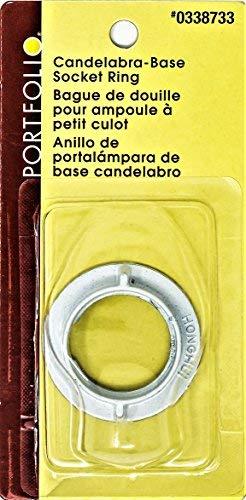(Portfolio LPST1 Candelabra-Base Socket Ring, White)