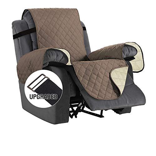 NEKOCAT Recliner Cover,100% Waterproof Nonslip Quilted Furniture Protector Slipcover,Seat Width to 22